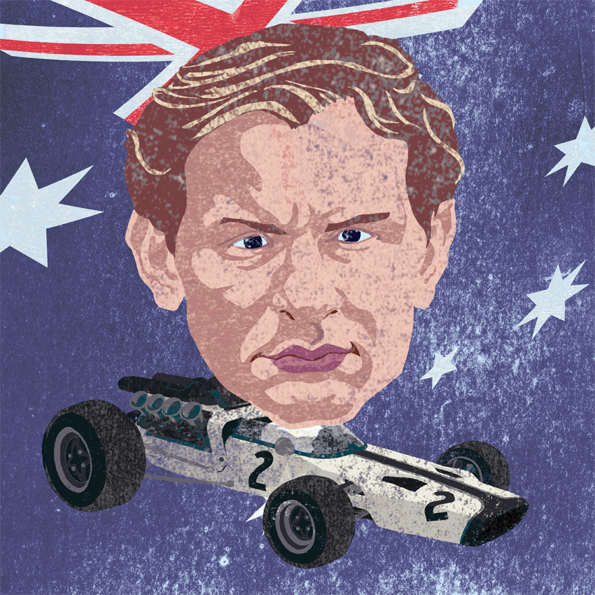 Bruce McLaren by Philip Schaufelberger