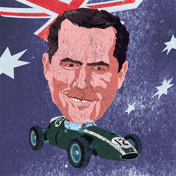 Jack Brabham by Philip Schaufelberger